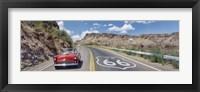 Framed Vintage car on Route 66, Arizona