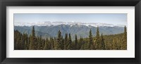 Framed Mountain range, Olympic Mountains, Hurricane Ridge, Olympic National Park, Washington State, USA