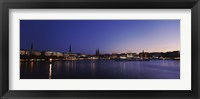 Framed Buildings at the waterfront, Alster Lake, Hamburg, Germany