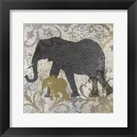 Framed Elephants Exotiques