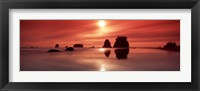 Framed Beach Sunset, Olympic National Park, Washington State