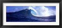 Framed Big Ocean Wave, Maui, Hawaii, USA