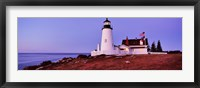 Framed Lighthouse at a coast, Pemaquid Point Lighthouse, Bristol, Lincoln County, Maine, USA