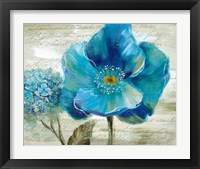 Framed Blue Poppy Poem II