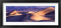 Framed Sand Dunes and Mountains, Death Valley National Park, California