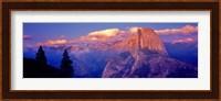 Framed Sunlight falling on a mountain, Half Dome, Yosemite Valley, Yosemite National Park, California, USA