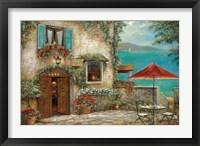 Ombrello Rosso Framed Print