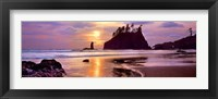 Framed Sunset at Second Beach, Olympic National Park, Washington State