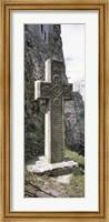 Framed Stone cross at a castle, Bran Castle, Brasov, Transylvania, Mures County, Romania