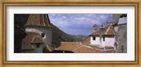 Framed Courtyard of a castle, Bran Castle, Brasov, Transylvania, Mures County, Romania