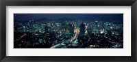 Framed Aerial view of a city, Seoul, South Korea 2011