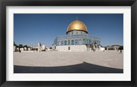 Framed Town square, Dome Of the Rock, Temple Mount, Jerusalem, Israel