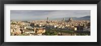 Framed Florence skyline, Tuscany, Italy