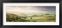 Framed Foggy field, Villa Belvedere, San Quirico d'Orcia, Val d'Orcia, Siena Province, Tuscany, Italy