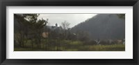 Framed Castle on a hill, Bran Castle, Transylvania, Romania