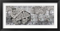 Framed Dollar house with money tree