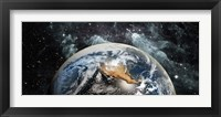 Framed Earth in space