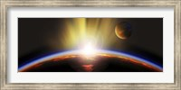 Framed Sunrise over earth