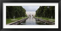 Framed Canal at Grand Cascade at Peterhof Grand Palace, St. Petersburg, Russia