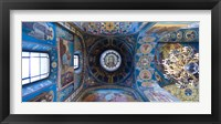 Framed Interiors of a church, Church of The Savior On Spilled Blood, St. Petersburg, Russia