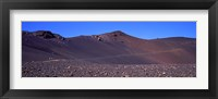 Framed Trail in volcanic landscape, Sliding Sands Trail, Haleakala National Park, Maui, Hawaii, USA