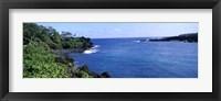 Framed Black Sand Beach, Hana Highway, Waianapanapa State Park, Maui, Hawaii