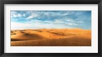 Framed Sahara Desert landscape, Morocco