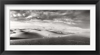 Framed Sahara Desert landscape, Morocco (black and white)