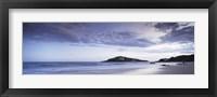 Framed Beach at dusk, Burgh Island, Bigbury-On-Sea, Devon, England