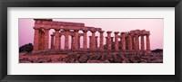 Framed Ruins of a temple, Temple E, Selinunte, Trapani Province, Sicily, Italy