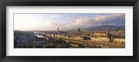 Framed Panoramic overview of Florence from Piazzale Michelangelo, Tuscany, Italy