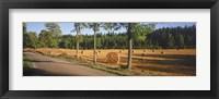 Framed Hay bales in a field, Flens, Sweden