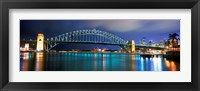 Framed Sydney Harbour Bridge with the Sydney Opera House in the background, Sydney Harbor, Sydney, New South Wales, Australia