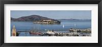 Framed Prison on an island, Alcatraz Island, Aquatic Park Historic District, Fisherman's Wharf, San Francisco, California, USA