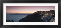 Framed Village on a cliff, Firostefani, Santorini, Cyclades Islands, Greece