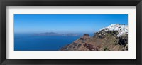 Framed Village on a hill, Imerovigli, Santorini, Cyclades Islands, Greece