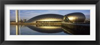 Framed Reflection of the Glasgow Science Centre in River Clyde, Glasgow, Scotland