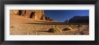 Framed Rock formations in a desert, Wadi Um Ishrin, Wadi Rum, Jordan