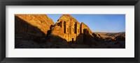 Framed Deep shadows at the monastery, Al Deir Temple, Wadi Musa, Petra, Jordan