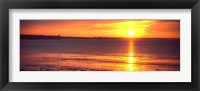 Framed Sunrise over the beach, Cap Coz, Fouesnant, Finistere, Brittany, France