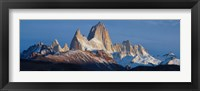 Framed Low angle view of mountains, Mt Fitzroy, Argentine Glaciers National Park, Argentina