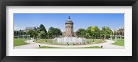 Framed Water tower in a park, Wasserturm, Mannheim, Baden-Wurttemberg, Germany