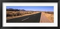 Framed Road passing through a desert, Keetmanshoop, Windhoek, Namibia