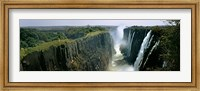 Framed Looking down the Victoria Falls Gorge from the Zambian side, Zambia