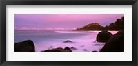 Framed Sunset over main beach on North Island, Seychelles