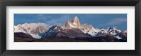 Framed Snowcapped mountains, Mt Fitzroy, Cerro Torre, Argentine Glaciers National Park, Patagonia, Argentina