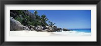 Framed Rock formations on the coast, Anse Marron, La Digue Island, Seychelles