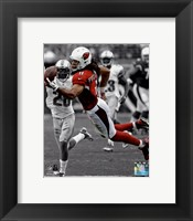 Framed Larry Fitzgerald 2013 Spotlight Action