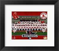 Framed Boston Red Sox 2013 World Series Champions Team Sit Down