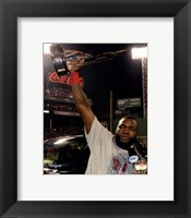 Framed David Ortiz with the 2013 World Series MVP Trophy Game 6 of the 2013 World Series